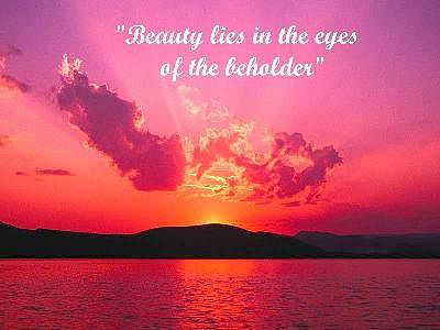 b beauty lies in the eyes of the beholder b com b beauty lies in the eyes of the beholder b